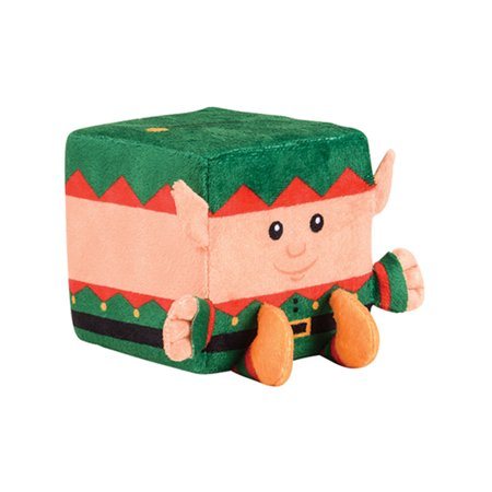 Santa Elf Christmas Winter Season Cube Figure QUBZ Decoration - Christmas Cube Decorating