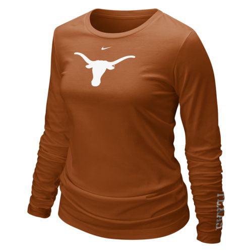 Texas Longhorns Shirt Nike Women's Long Sleeve Logo T Shirt by Nike