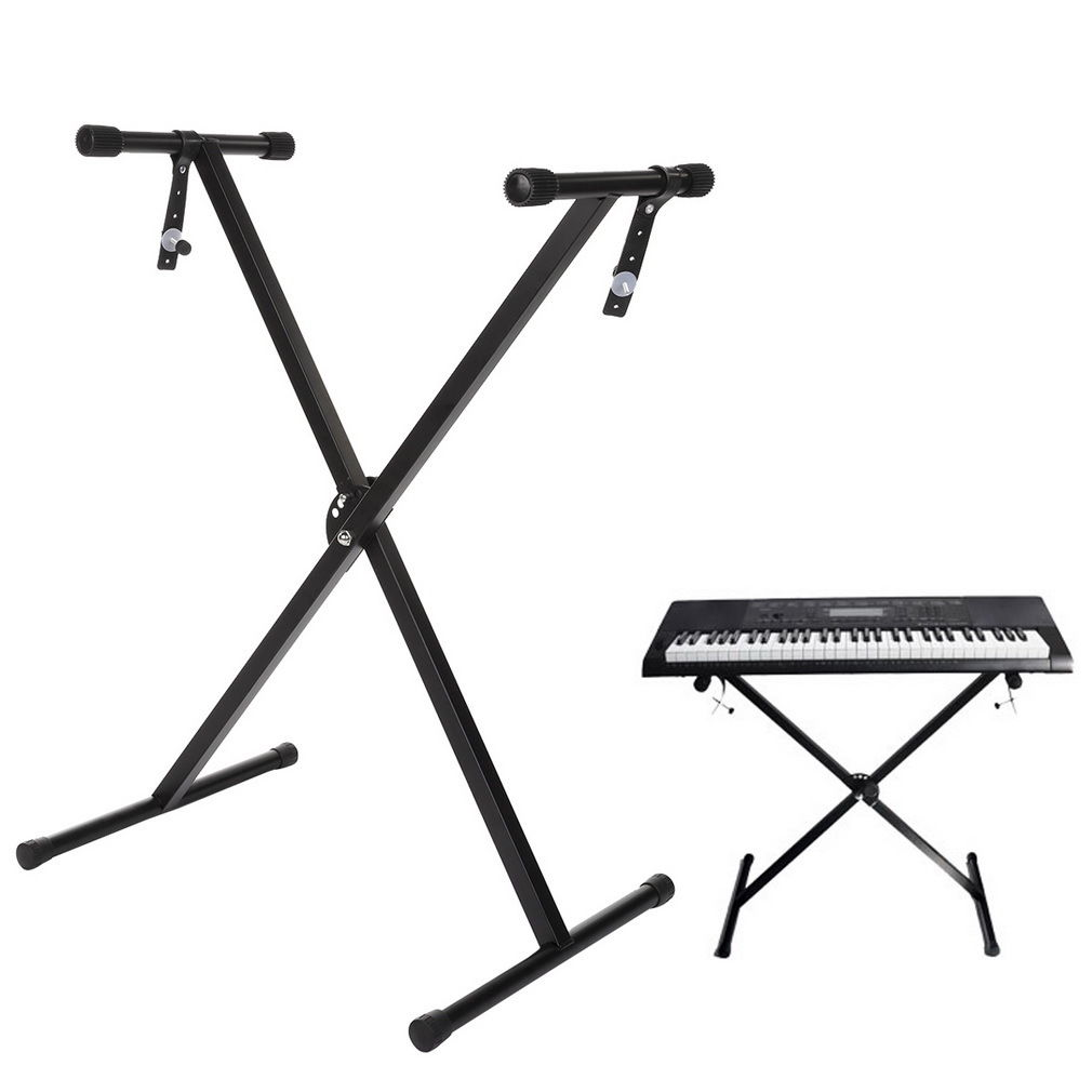 CNMODLE Portable Adjustable Rack Stand for Electronic Music Piano Keyboard Single-Tube... by