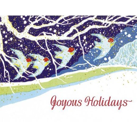 (Golden Memories Christmas Correspondence Card Packs: Birds Flying Through the Snow (Other))