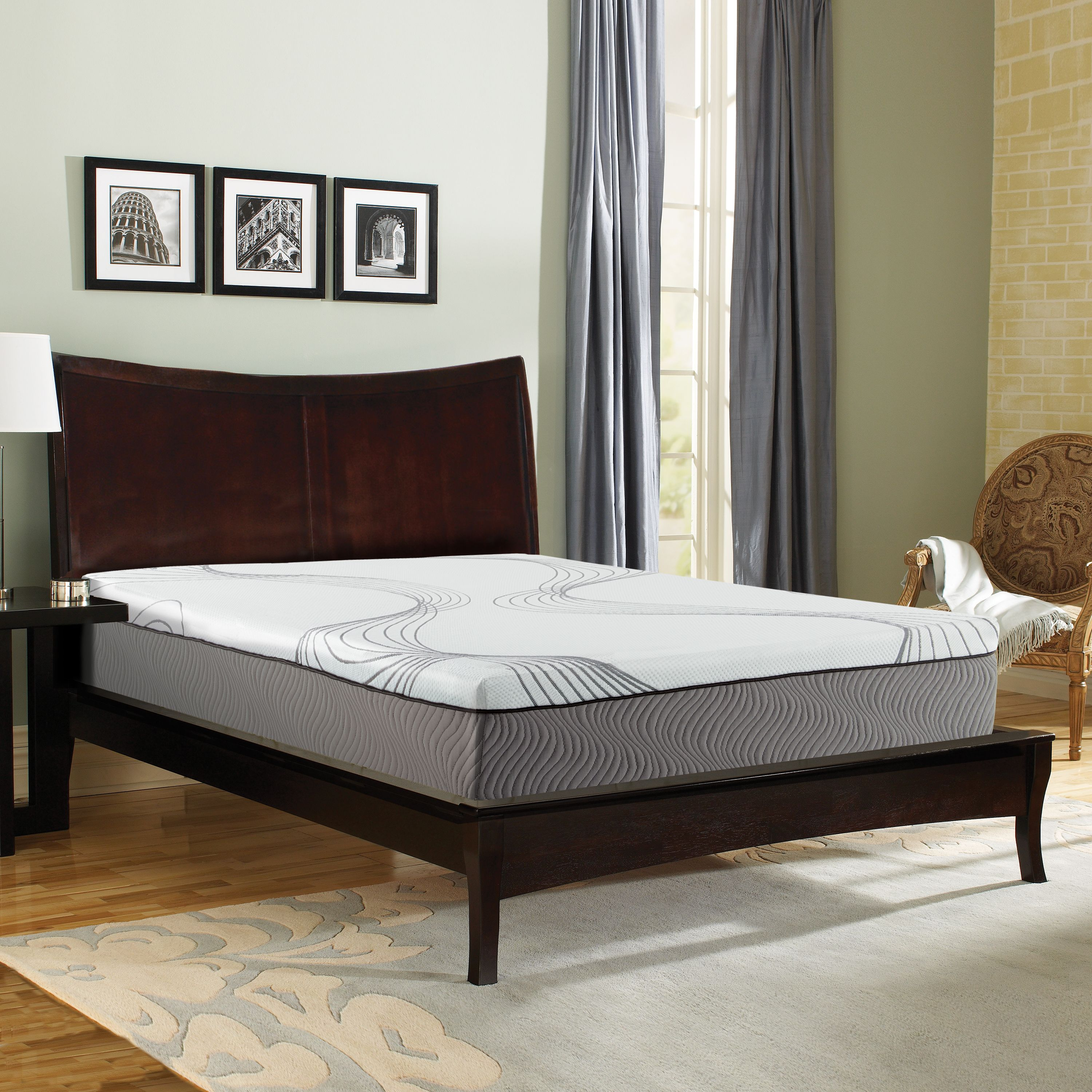 "Contura 2000 12""Medium Plush Engineered Latex Mattress Bed"
