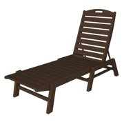 Recycled Cape Cod Outdoor Patio Armless Chaise Lounge Chair - Chocolate Brown