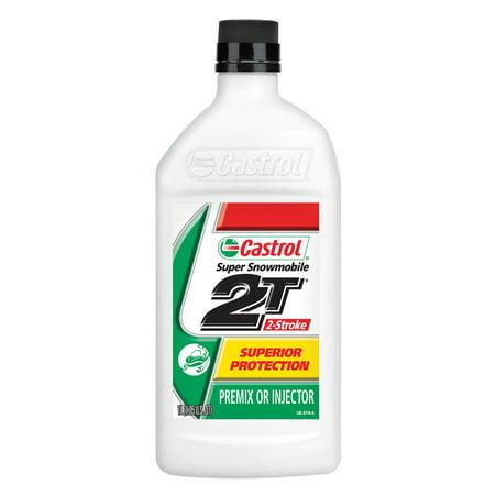 Castrol 2T 2 Stroke Super Snowmobile Oil, 1 Liter (Best 2 Stroke Motorcycle Oil)