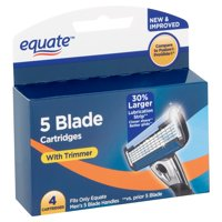 Equate 5 Blade Cartridges with Trimmer, 4 Count