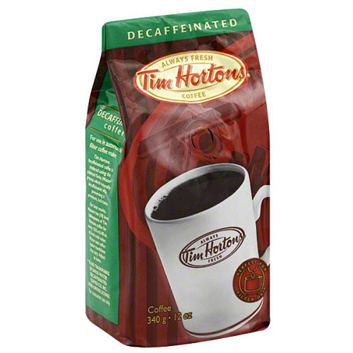 Tim Hortons Decaffeinated Ground Coffee, 12 oz, (Pack of 6)
