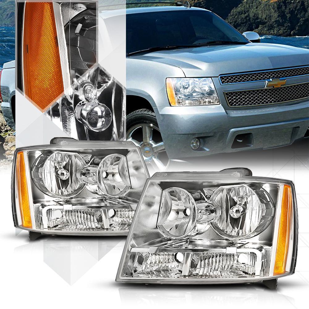 Chrome Headlight Amber Turn Signal Reflector for 07-14 Tahoe/Avalanche/Suburban 08 09 10 11 12 13