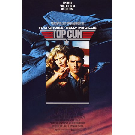 Tom Cruise and Kelly McGillis in Top Gun movie art 24x36 Poster (Guy Movie Poster)