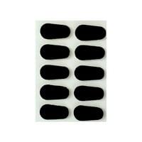 GMS Optical   15 mm Black Adhesive Foam Nose Pads