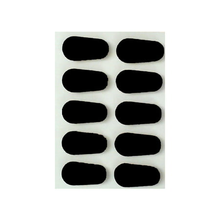 - GMS Optical | 15 mm Black Adhesive Foam Nose Pads