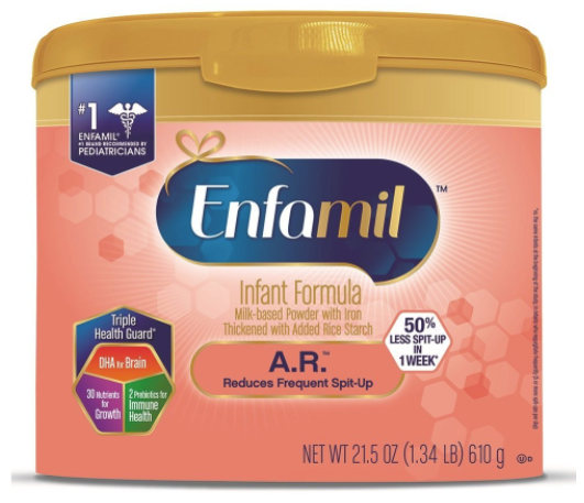 Enfamil A.R. Infant Formula Clinically Proven to reduce Spit-Up in 1 week Reusable Powder Tubs, 21.5 oz, Case... by Enfamil