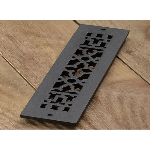"Reggio Registers 414-H Scroll Series 12"" x 2-1/4"" Grille with Mounting Holes"