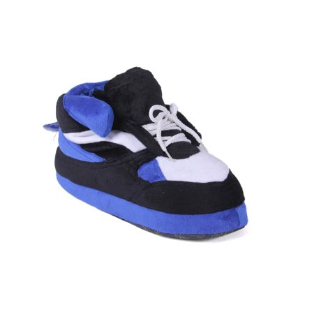 Happy Feet - Blue, Black and White - Slippers - Small (Small Doggie Slippers)