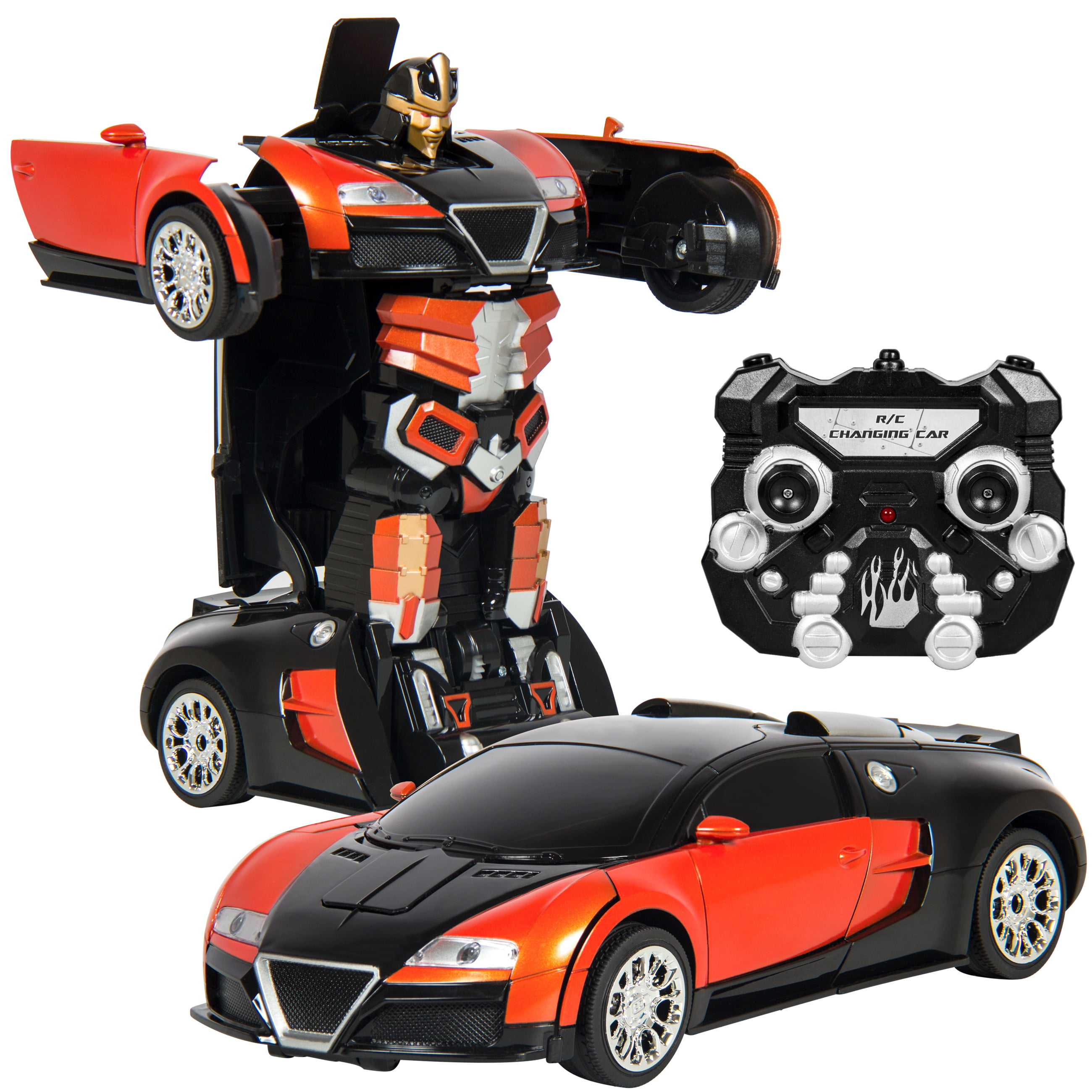 Best Choice Products Kids Toy Transformer RC Robot Car Remote Control Car- Orange by