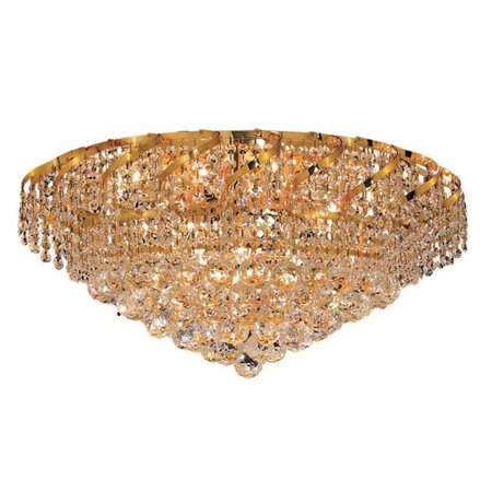 New Product Elegant Lighting The Belenus 10 Light Finest Crystal Flush  Mount in Gold Finish ECA1F26G/EC Sold By VaasuHomes