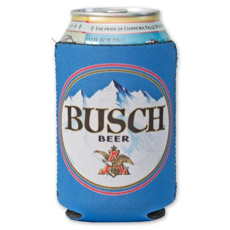 Blue Busch Beer Can Cooler - Custom Beer Koozie