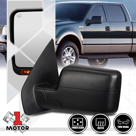 - [Left]Driver Side Power+Heated w/LED Signal Foldable Mirror for 04-14 Ford F150 05 06 07 08 09 10 11 12 13