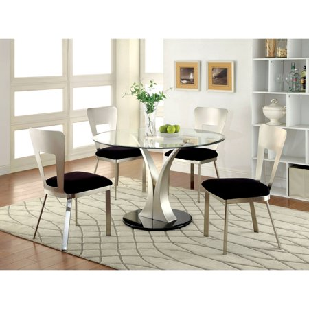 Furniture Of America Sparling Contemporary 5 Piece Dining Table Set