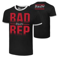 "Official WWE Authentic Ronda Rousey ""Bad Rep""  T-Shirt Ringer Small"