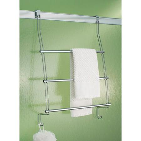 InterDesign Classico Over the Door Towel Rack with Hooks ...