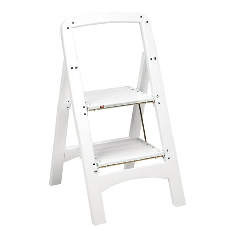 Cosco Two-Step Rockford Wood Step Stool, White