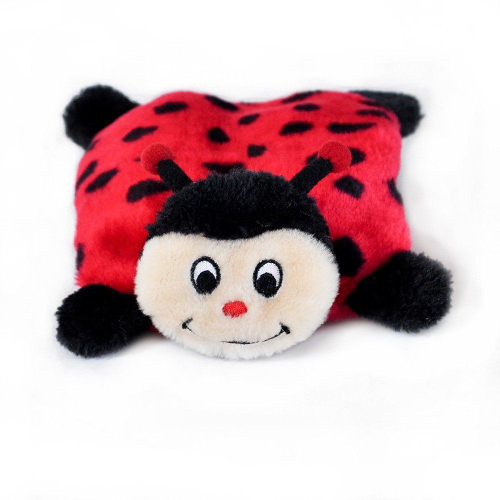 Toy Dog, Squeakie No Stuffing Ladybug Tough Cute Plush Fluffy Dog Chew Toy