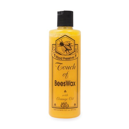 Beeswax Furniture Polish and Conditioner with Orange Oil. Wood Floor Scratch Repair, Feed Into Hardwood, Restore and Protect Cabinets 16 Ounce 16 oz