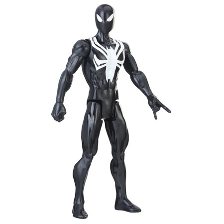 Spider-man titan hero series web warriors: black suit spider-man (Black Widow Spider Web)