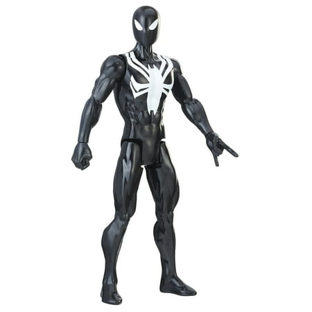 Spider-man titan hero series web warriors: black suit spider-man - Small Black Spider