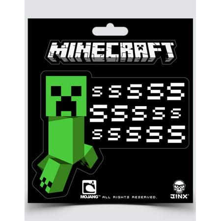 Minecraft Creeper SSSsss Sticker (Minecraft Stickers)