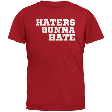 Haters Gonna Hate Red Adult T-Shirt - Miranda Sings Haters Back Off Shirt