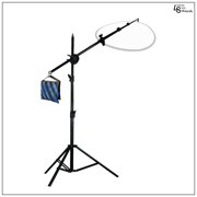 Reflector Disc Holder Boom Arm Stand Kit with Counter Weight Sandbag for Photo Video Lighting by Loadstone Studio WMLS0277