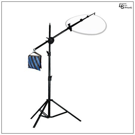 Reflector Disc Holder Boom Arm Stand Kit with Counter