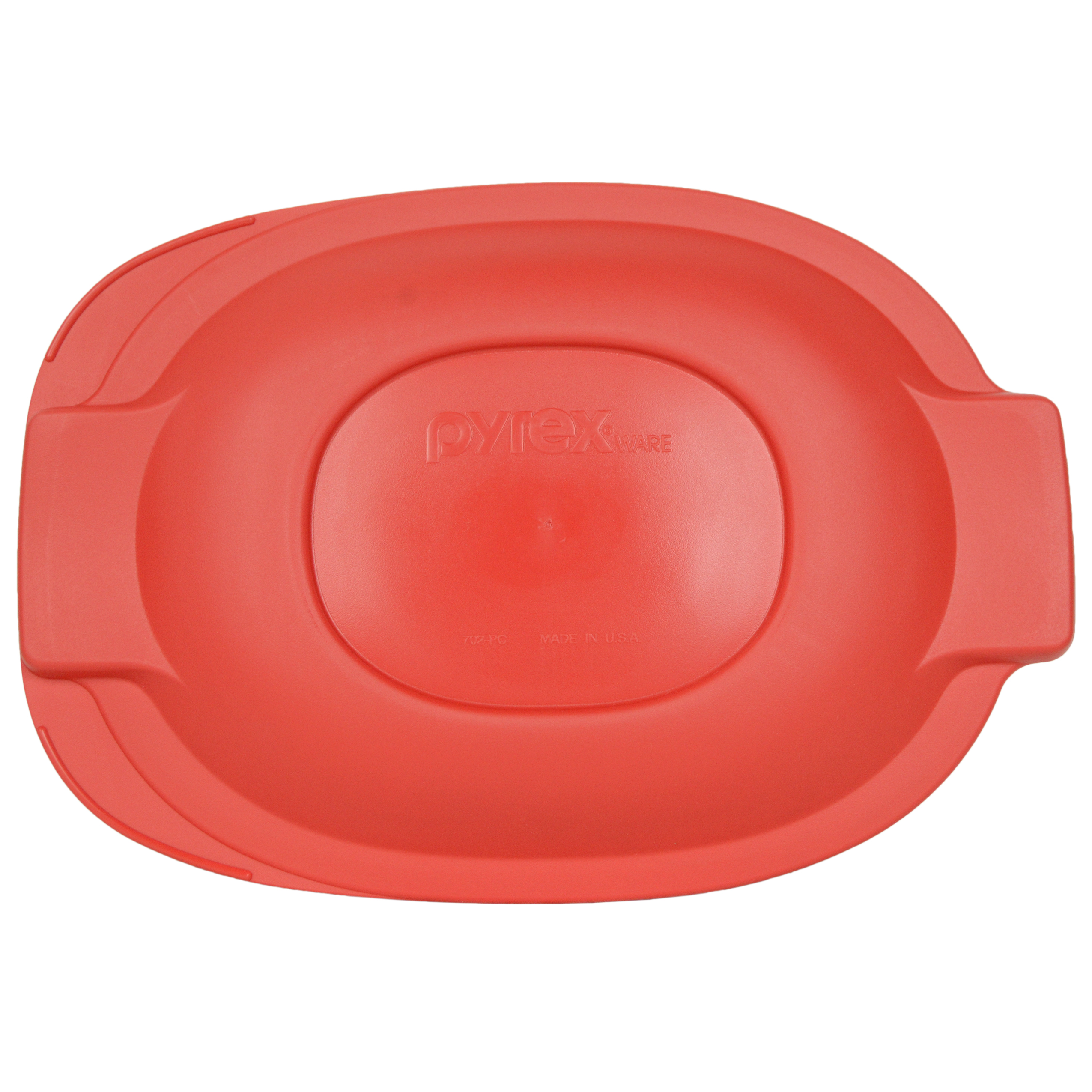 Pyrex Replacement Lid 702-PC Red Plastic Cover for Pyrex 2.5 Quart Glass Roaster Dish (Sold Separately)