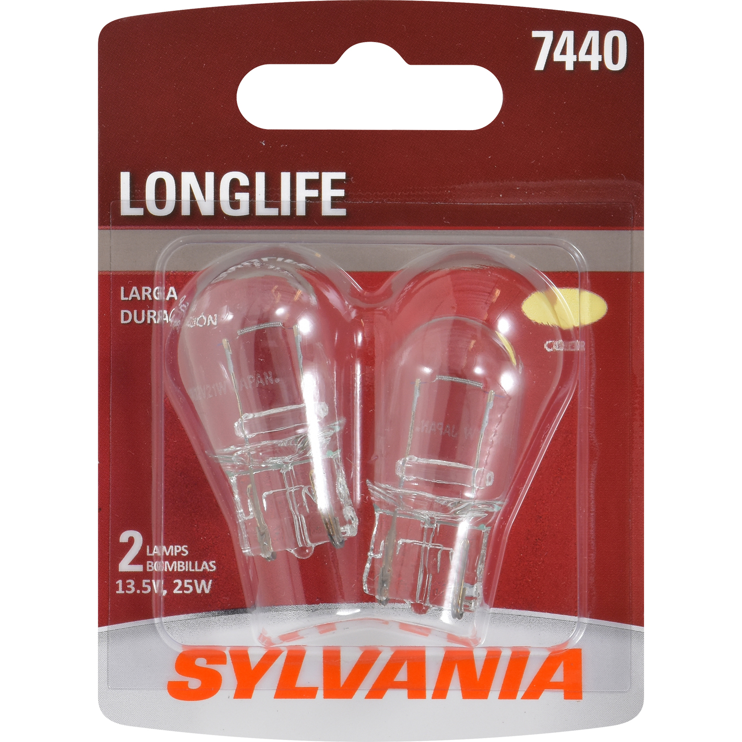SYLVANIA 7440 Long Life Mini Bulb, Pack of 2