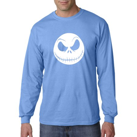New Way 1122 - Unisex Long-Sleeve T-Shirt Nightmare Before Christmas Jack Skelleton Face 2XL Carolina Blue ()