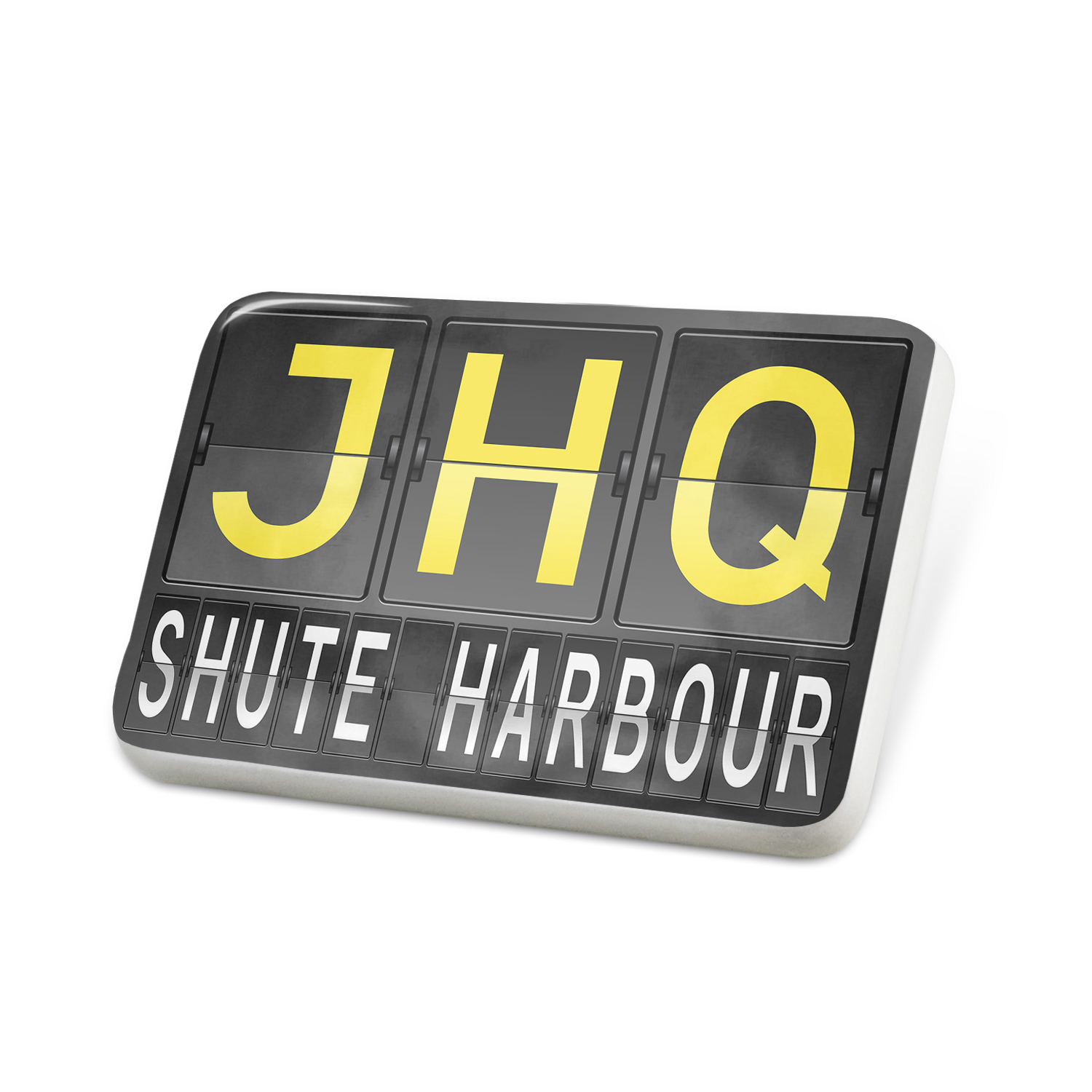 Porcelein Pin JHQ Airport Code for Shute Harbour Lapel Badge – NEONBLOND