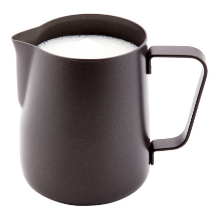 Black Milk Pitcher, Black Drink Pitcher - Trendy, Stylish - Stainless Steel - Black - 12 oz - 1ct Box - Met Lux