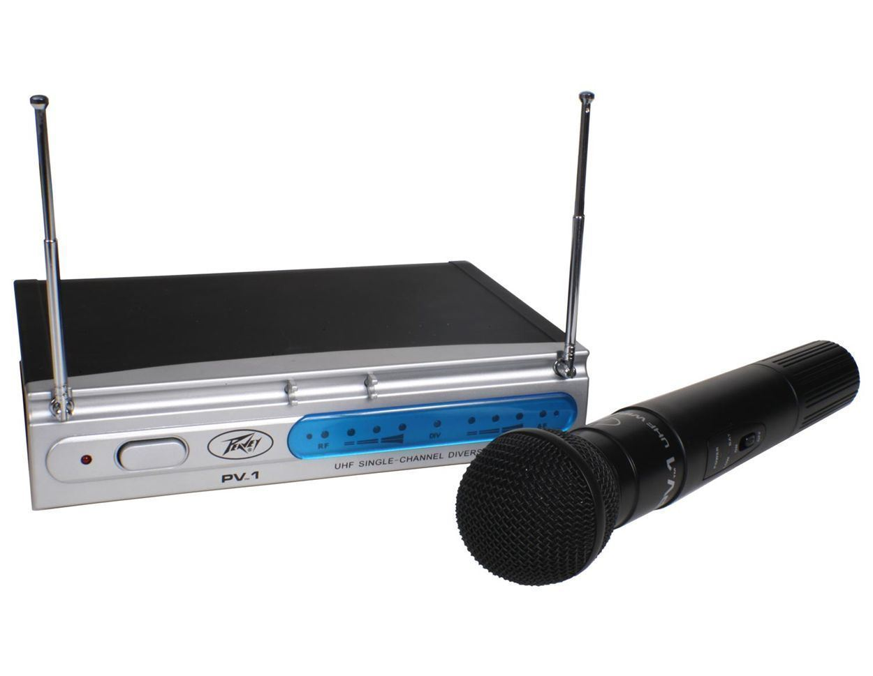 Peavey PV-1 U1 HH 911.70 Mhz Mic Wireless Handheld Microphone System by Peavey Electronics