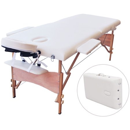 Costway 84 l portable massage table facial spa bed tattoo w free carry case white - Portable massage table walmart ...