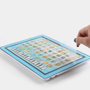 Child Kids Computer Tablet Touch Screen USB Charging English Learning Study Machine Early Educational Toys blue