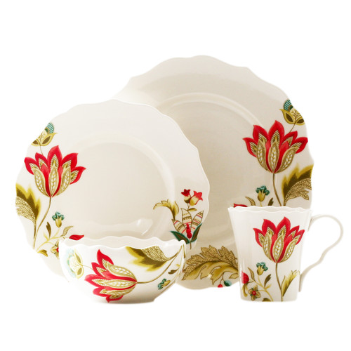 222 Fifth Bella Donna 16 Piece Dinnerware Set Service for 4  sc 1 st  Walmart.com & 222 Fifth Bella Donna 16 Piece Dinnerware Set Service for 4 ...