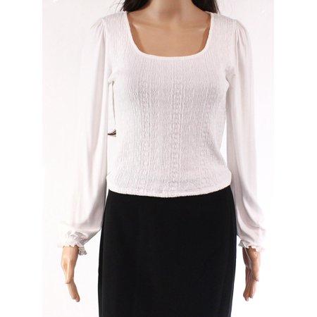 Top Large Junior Pleated Scoop-Neck Knit Shirred L Pleated Knit Top