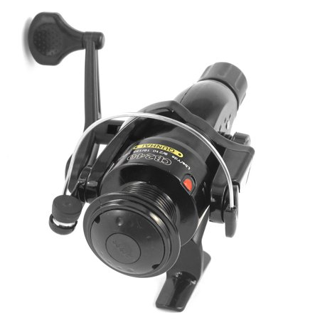 - Unique Bargains Long Cast Graphite Spool Spinning Reel Silver Tone Black Gear Ratio 5.1:1