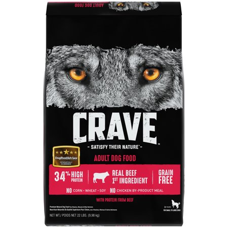 Crave Control (CRAVE Grain Free Adult Dry Dog Food with Protein from Beef, 22 lb. Bag)