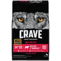 CRAVE Grain Free Adult Dry Dog Food with Protein from Beef, 22 lb. Bag