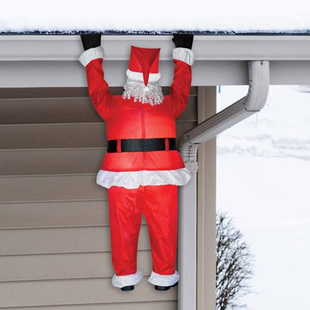 Airblown inflatable santa hanging christmas decoration for Outdoor hanging ornaments
