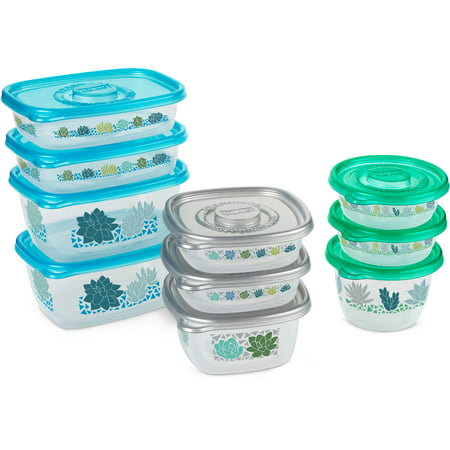 Glad Food Storage Containers - MatchWare Variety Pack - 10 Containers - 20 Piece Set