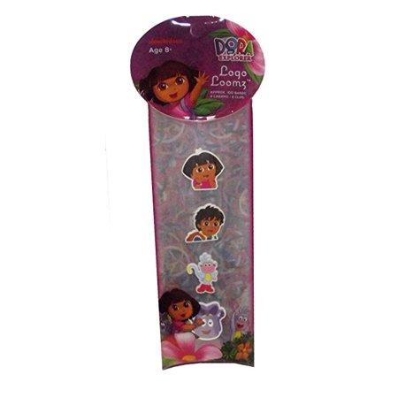 Dora the Explorer Logo Loomz 4 Charm Pack (Dora The Explorer Charms)