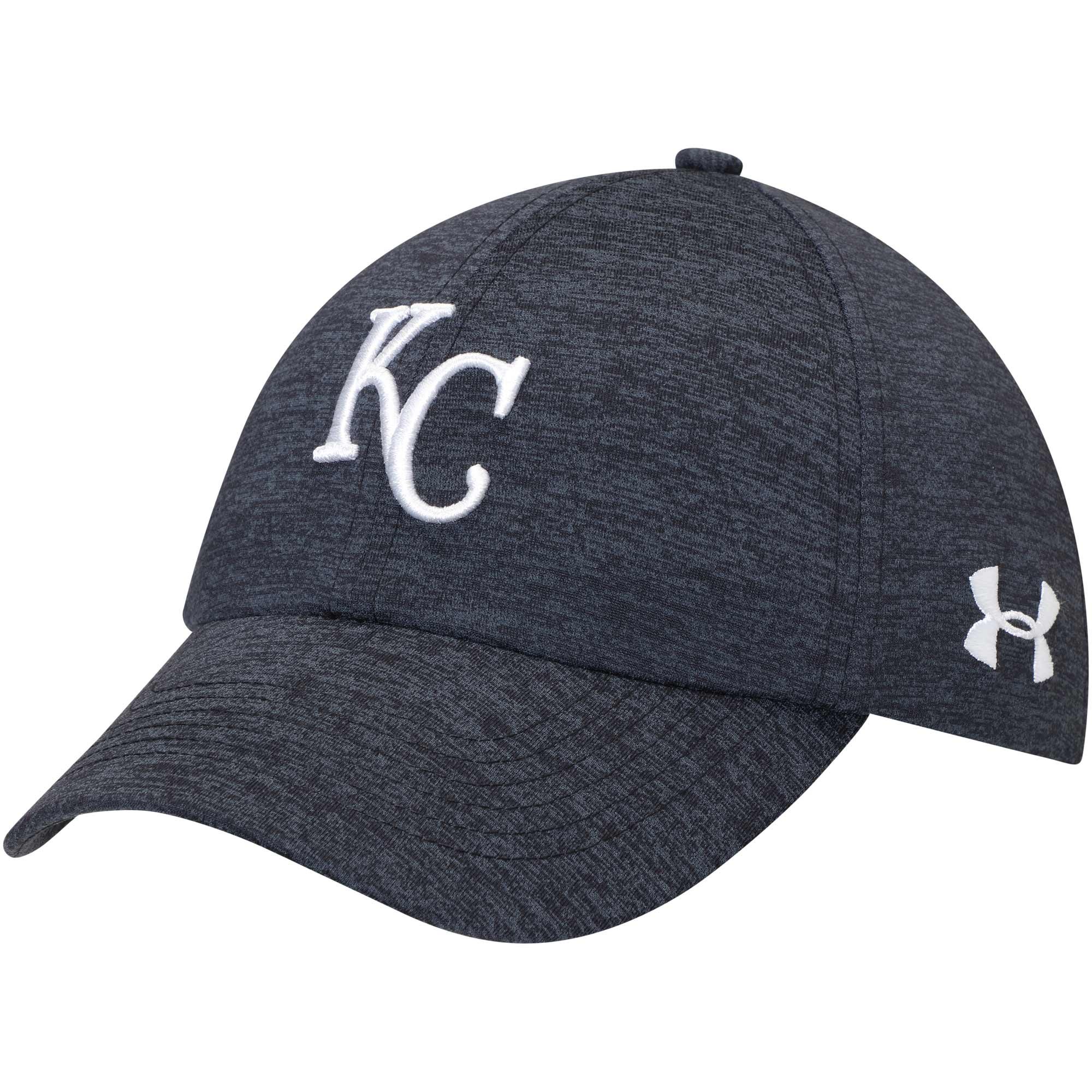 Kansas City Royals Under Armour Women's Twisted Renegade Adjustable Hat - Heathered Navy - OSFA