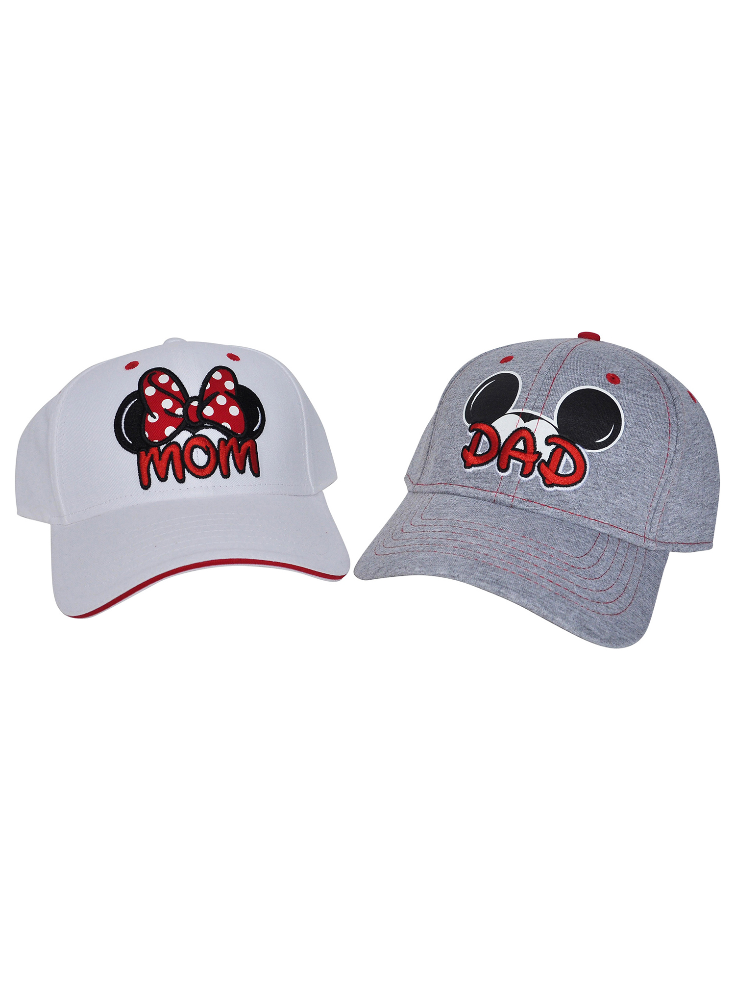 Mickey & Minnie Mouse Mom & Dad Hat 2PC Gift Set